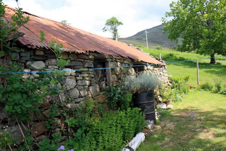 Old shed in the Broomview B&B garden near Ullapool