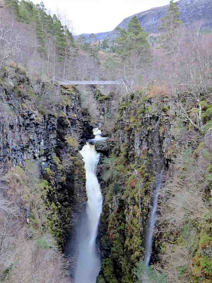 The Falls of Measach and the Corrieshalloch Gorge