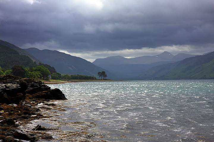 View of Loch Broom from the shore