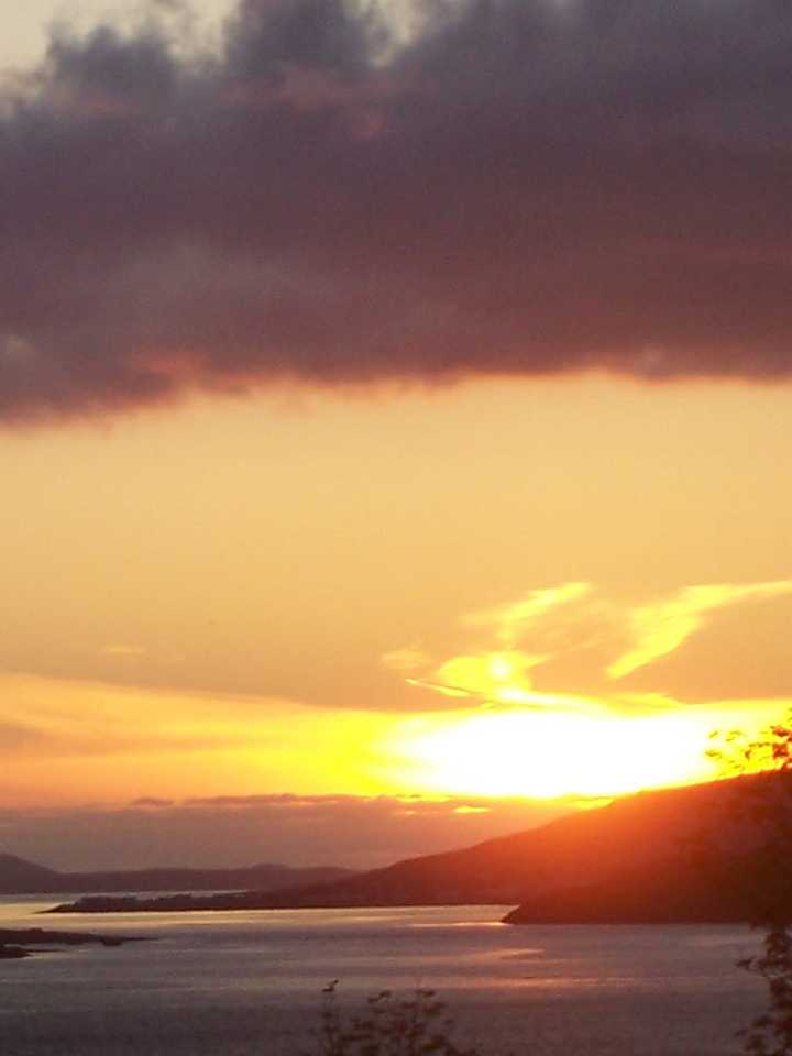Sunset over Loch Broom from Broomview B&B near Ullapool